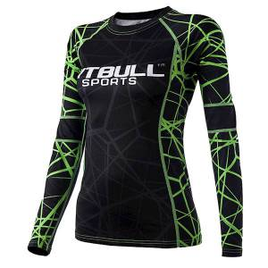 Women Rashguard Longsleeve Green Ray