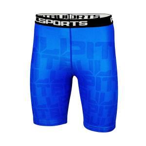 Pantalones cortos de compresión azul Hightree