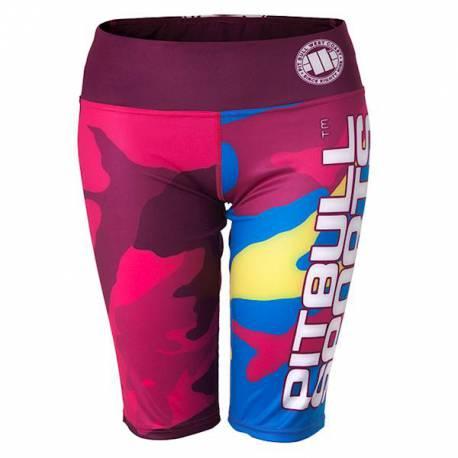 Pantalones Cortos de Compresión 2/3 Mujeres Camo 2 Completo