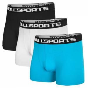 Pantalones Cortos de Boxeador 3PACK Negro/Blanco/Azul