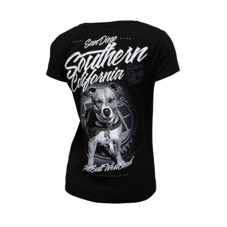 Women T-shirt Slim Fit Lycra So Cal 18 Black