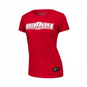 Women T-shirt Boxing Red