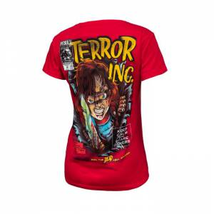 Women T-shirt Scare Red
