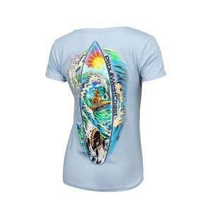Women T-shirt Camino Blue