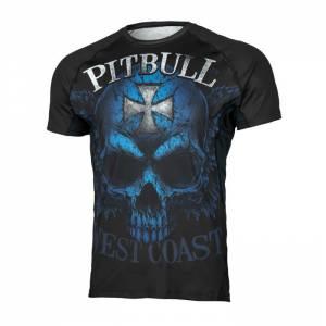 Camiseta Rashguard Mesh Blue Skull